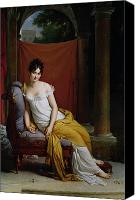 Hostess Canvas Prints - Portrait of Madame Recamier Canvas Print by Francois Pascal Simon Gerard