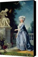 Marie-louise Canvas Prints - Portrait of Marie-Louise Victoire de France Canvas Print by Adelaide Labille-Guiard