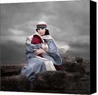 Photo-realism Photo Canvas Prints - Portrait of Mary Canvas Print by Cindy Singleton