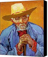 Half-length Painting Canvas Prints - Portrait of Patience Escalier Canvas Print by Vincent van Gogh