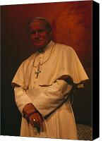 Religions Canvas Prints - Portrait Of Pope John Paul Ii Canvas Print by James L. Stanfield