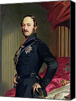Military Uniform Painting Canvas Prints - Portrait of Prince Albert Canvas Print by Franz Xavier
