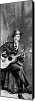 Johnson Mixed Media Canvas Prints - Portrait of Robert Johnson Canvas Print by Carrie Jackson