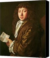 Musical Notes Canvas Prints - Portrait of Samuel Pepys Canvas Print by John Hayls
