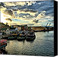 Tugboat Canvas Prints - Portsmouth Harbor 2 framed print can be seen on set of ABCs Desperate Housewives Canvas Print by Edward Myers