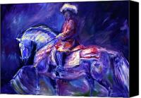 Williams Painting Canvas Prints - Portugese Rider Canvas Print by Diane Williams