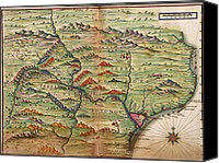 Maps Canvas Prints - Portuguese Maps Showing Detailed Views Canvas Print by Everett