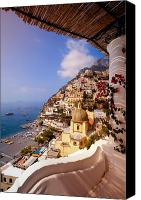 Church Photo Canvas Prints - Positano View Canvas Print by Neil Buchan-Grant