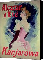 Long Gloves Canvas Prints - Poster advertising Alcazar dEte starring Kanjarowa  Canvas Print by Jules Cheret