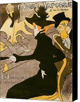 Fournier Canvas Prints - Poster advertising Le Divan Japonais Canvas Print by Henri de Toulouse Lautrec