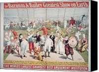 Acrobats Canvas Prints - Poster advertising the Barnum and Bailey Greatest Show on Earth Canvas Print by American School