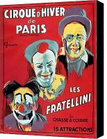 Fun Fair Canvas Prints - Poster advertising the Fratellini Clowns Canvas Print by French School