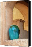 Sedona Canvas Prints - Pottery and Archways Canvas Print by Sandra Bronstein