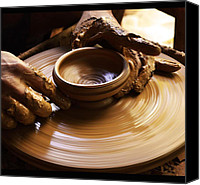 Clay Ceramics Canvas Prints - Pottery Canvas Print by Baiju Abraham