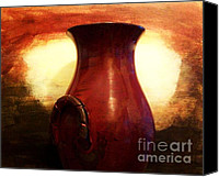Barn Digital Art Canvas Prints - Pottery From Italy Canvas Print by Marsha Heiken