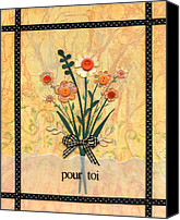 Picturesque Mixed Media Canvas Prints - Pour Toi Canvas Print by Carla Parris