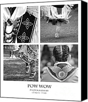 Pow Wow Canvas Prints - Pow Wow Montage Canvas Print by Gordon Wood