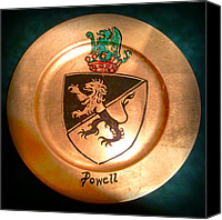 Coat Of Arms Canvas Prints - Powell Charger Canvas Print by Nancy Rutland