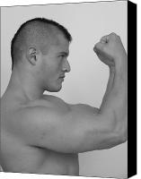 Male Physique Canvas Prints - Power and Muscle Canvas Print by Jake Hartz