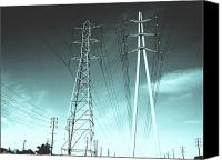 Lines Canvas Prints - Power lines Canvas Print by Jay Reed