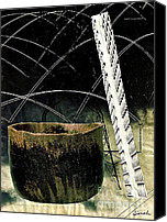 Avant Garde Mixed Media Canvas Prints - Power Lines Canvas Print by Sarah Loft