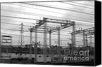 Power Lines Canvas Prints - Power lines Canvas Print by Tony Cordoza