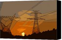 Power Lines Canvas Prints - Power to the people Canvas Print by David Lee Thompson