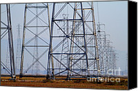 Power Lines Canvas Prints - Power Transmission Towers . 7D8802 Canvas Print by Wingsdomain Art and Photography