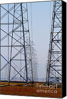 Power Lines Canvas Prints - Power Transmission Towers . 7D8804 Canvas Print by Wingsdomain Art and Photography
