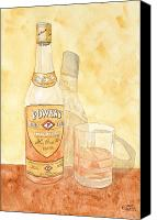 Irish Canvas Prints - Powers Irish Whiskey Canvas Print by Ken Powers