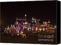 Holiday Cheer Canvas Prints - pr 62 - Christmas Lights Canvas Print by Chris Berry