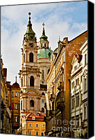 Christianity Canvas Prints - Prague - St. Nicholas Church Lesser Town Canvas Print by Christine Till
