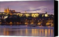 Vltava Canvas Prints - Prague Castle and Charles Bridge Canvas Print by Andre Goncalves