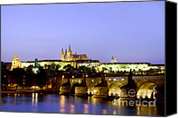 Charles Bridge Canvas Prints - Prague Castle and Charles Bridge Canvas Print by Artur Bogacki