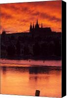 Charles Bridge Canvas Prints - Prague Castle Canvas Print by Andre Goncalves