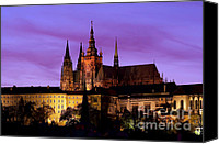 Prague Castle Canvas Prints - Prague castle at evening Canvas Print by Michal Boubin
