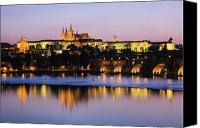 Prague Castle Canvas Prints - Prague Castle on the Riverbank Canvas Print by Jeremy Woodhouse