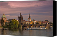 Charles Bridge Canvas Prints - Prague Canvas Print by Dennis F Buehler Photography