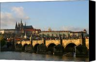 Charles Bridge Canvas Prints - Prague Canvas Print by Joe Burns