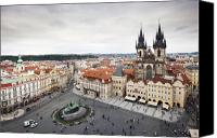 Charles Bridge Canvas Prints - Prague Old Town Square Canvas Print by Andre Goncalves