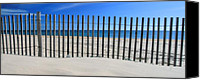 Fences Canvas Prints - Praia do Cabeco - Panoramic Canvas Print by Carl Whitfield