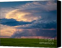 Power Lines Canvas Prints - Prairie Power Canvas Print by Royce Howland