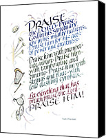 Heavens Canvas Prints - Praise the Lord Canvas Print by Judy Dodds