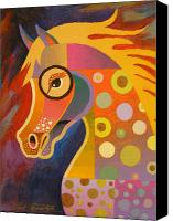 Abstract Equine Canvas Prints - Prancer Canvas Print by Bob Coonts