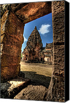 Attraction Digital Art Canvas Prints - Prasat Phnom Rung Canvas Print by Adrian Evans