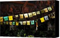 Tibetan Digital Art Canvas Prints - Prayer flags Canvas Print by David Lee Thompson