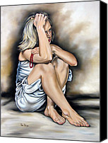 Ilse Kleyn Painting Canvas Prints - Prayer II Canvas Print by Ilse Kleyn