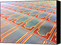 Souvenir Canvas Prints - Prayer Mats Printed On Mosque Carpet Canvas Print by Jill Tindall