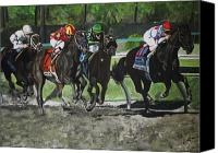 Preakness Canvas Prints - Preakness 2010 Horse Racing Canvas Print by Kim Selig
