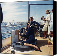 Democrats Canvas Prints - President And Jacqueline Kennedy Watch Canvas Print by Everett
